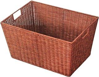 LF- Panier de rangement pour vêtements sales de salle de bain (couleur : marron, taille : 48 x 34 x 26 cm)