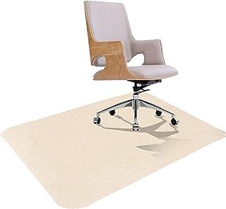 チェアマット 床保護マット ズレない 120X90cm 厚さ4mm 椅子 床 保護マット 吸着 キズ防止 滑り止め 丸洗い可能 カット可能 吸音 クリーム色