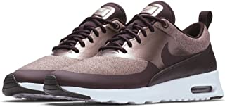 Nike Women's Nike Air Max Thea Knit Shoe - port wine/mtlc mahogany-particle pink