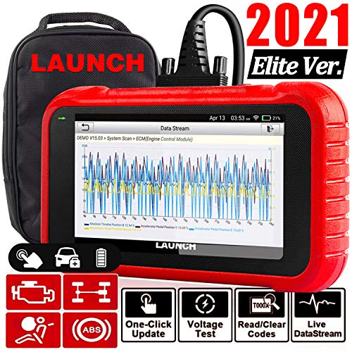 LAUNCH OBD2 Scanner CRP123E Engine ABS SRS Transmission Car Code Reader Print Diagnostic Report - Android System, Wi-Fi Update, 5 inch touchscreen, Upgraded CRP123 Diagnostic Tool