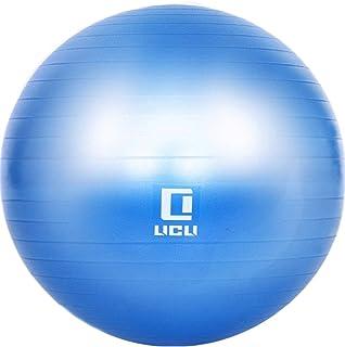 LICLI バランスボール 65cm 空気入れ ポンプ 付き アンチバースト ジムボール ヨガボール 耐荷重300kg 「 エクササイズボール 」「 バランス 骨盤 」「 椅子としても使用可能 」 4色