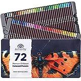 Art-n-Fly Juego de 72 Lápices de Colores a Base de Aceite - Caja De Metal