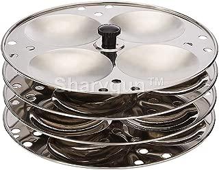 SharvgunTM Idli Maker Stainless Steel 4-Rack Idli Stand, Kitchen Appliances, Makes 16 Idlis