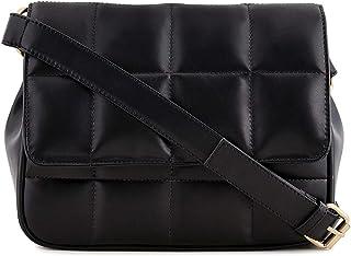 Sakwoods Women Pu Quilted Peach Sling Bag