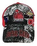 Marvel Gorras de béisbol para niños Official Disney Spiderman/Star Wars/Sombreros de Verano - Rojo - 2-4 años