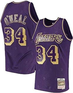 Baloncesto de los Hombres Jersey-Los Angeles Lakers 34# Shaquille ONeal Camisa Retro Verano Bordado Tops Adulto Swingman Baloncesto Disfraz Regalo de cumplea/ños S-XXL