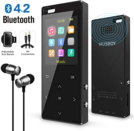 7222108e7 MP3 Player, MP3 Player with Bluetooth, Hi-Fi Lossless Sound Music Player  with