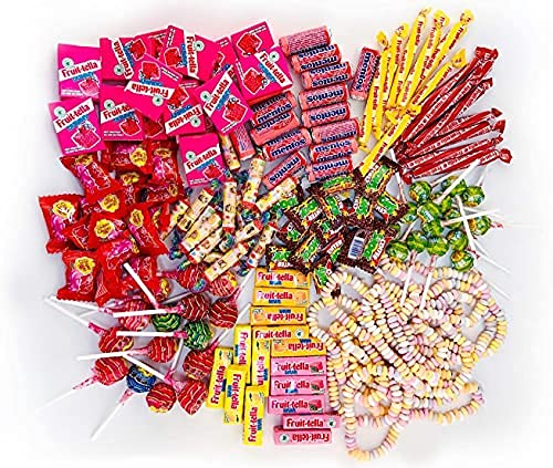 Chupa Chups Kinder Süßigkeiten Mix, 150-teilig, mit Lollis, Kaugummis, Kaubonbons & Spezialartikeln, Mentos, Center Shock, Fruittella, Look-o-Look, Ideal zu Halloween 1300 g