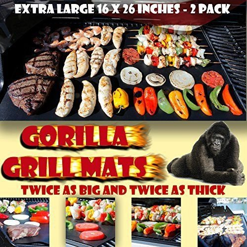 GORILLA GRILL MATS Huge Double Sized 16x26