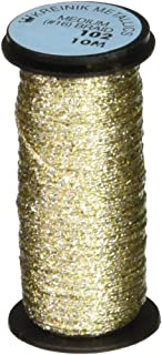 Kreinik No.16 10m Metallic Braid Trim, Medium, Vatican Gold