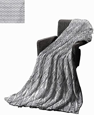 Anyangeight Victroian Weave Pattern Extra Long Blanket Vintage Motifs from European Cultures Rhombuses with Medieval Inspirations,Super Soft and Comfortable,Suitable for Sofas,Chairs,beds