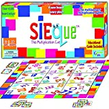 SiEque Cool Math Games for Kids & Adults - Best Party Games - Award Wining Multiplication Fun Board Game – Top Educational Learning Toys to Play for Boys & Girls & Family –Prime Gift -Ages 7-77
