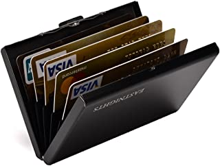 RFID Credit Card Holder Slim Card Wallet with 6 slots Stainless Steel ID Card Case for Women or Men