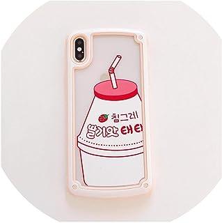 夏のキャンディー落下防止韓国イチゴミルク携帯電話ソフトシェル、Apple iPhone 6S 7 8 Plus x XR XS Max、1、iphone XRに適しています
