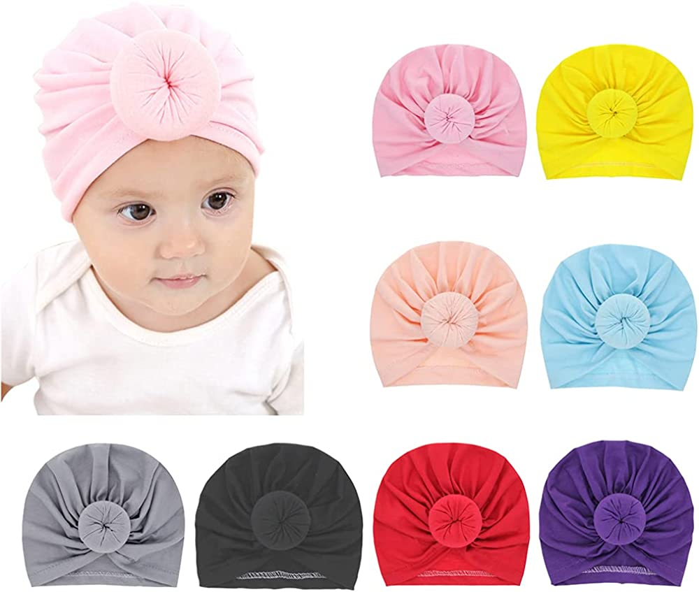 Baby Girls Hair Bow Turban Oversized Ranking TOP19 Knotted Hat Headwrap Import I