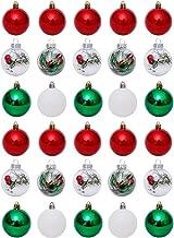 Amosfun 30 Pcs Bola de Natal Pingente Enfeites de Bola de Natal Enfeites de Bolas de Ãrvore Inquebrável Decoração para Fes...