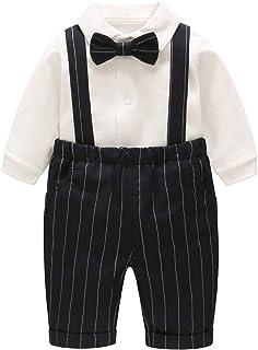 famuka Ropa para Bebé Niños Traje Camisa + Pantalón Vestido de Caballero