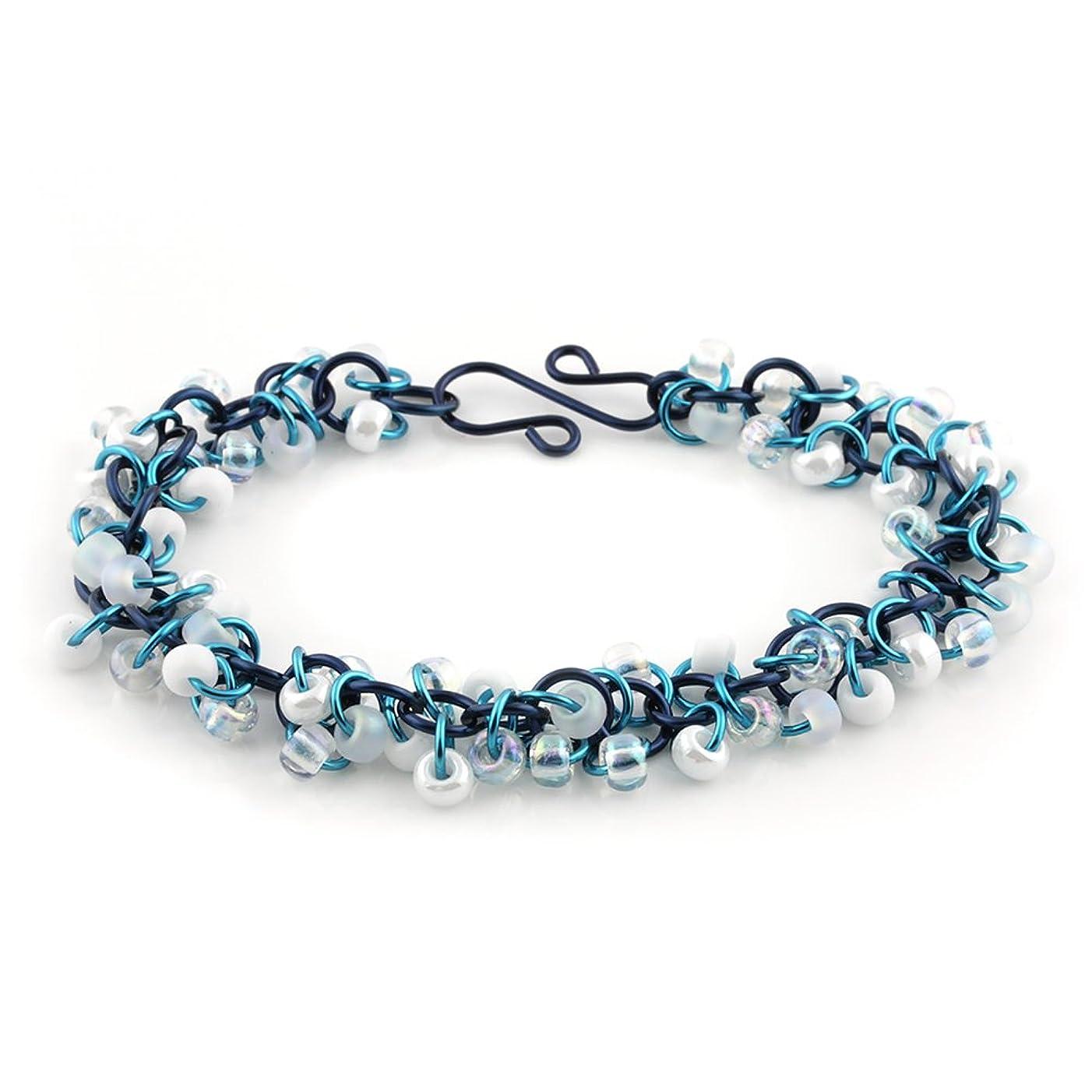 Weave Got Maille Blue Mist Shaggy Loops Chain Maille Bracelet Kit
