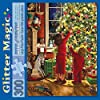 Bits and Pieces - 300 Large Piece Embellished Glitter Jigsaw Puzzle for Adults - Children Decorating The Christmas Tree by Artist Liz Goodrick Dillon - Family Holiday Fun - 300 pc Jigsaw #1