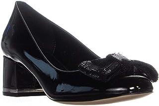 Michael Kors Womens Paris Mid Pump Leather Closed Toe Classic Pumps