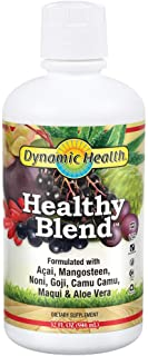 Dynamic Health Healthy Blend | for Healthy Living | Acai, Magosteen, Noni, Goji, Camu Camu, Maqui & Aloe Vera | No Gluten ...