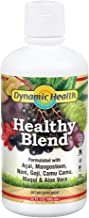 Dynamic Health Healthy Blend | For Healthy Living | Acai, Magosteen, Noni, Goji, Camu Camu, Maqui & Aloe Vera | Gluten & BPA Free, Vegetarian | 32oz