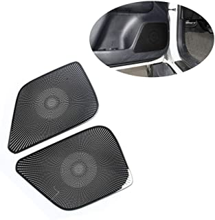 Fit for for 2015-2020 TOYOTA Tacoma 2PCS black stainless steel speaker Cover trims Accessories