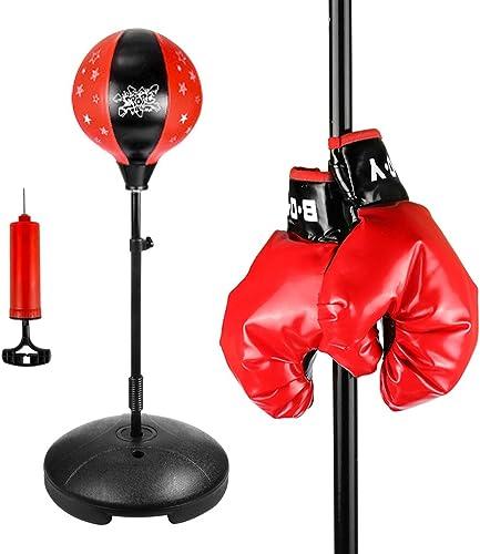 De boxe Speed Ball, Sac de frappe en forme de poire avec cuir PU pivotant Punch Attentif à suspendre Speed Dodge Ball, convient pour la boxe formation d'exercice