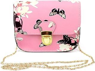 Wultia - Bags New Hot Sale Women Butterfly Flower Printing Handbag Shoulder Bag Tote Messenger Bag Hight Quality #T08 Pink