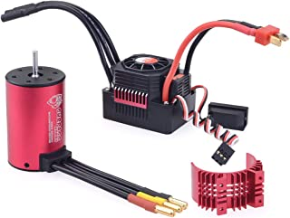 Metermall Toys&Games Surpass Hobby 3660 2600Kv Rc Car Motor+60A Waterproof Esc 2-3S For 1/10 Rc Models Buggy Drift