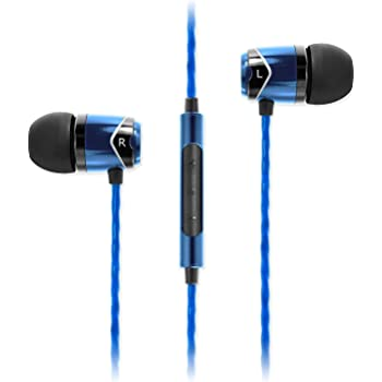 SoundMAGIC E10C Earphones Wired Noise Isolating in-Ear Earbuds Powerful Bass HiFi Stereo Sport Headphones with Microphone (Blue)