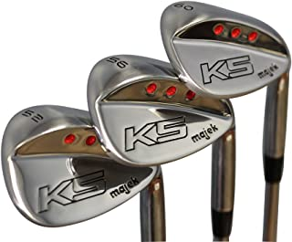 Majek Golf +1 inch Over Big & Tall Senior Men's Complete Wedge Set: 52° Gap Wedge (GW), 56° Sand Wedge (SW), 60° Lob Wedge (LW) Right Handed (Tall 6'0