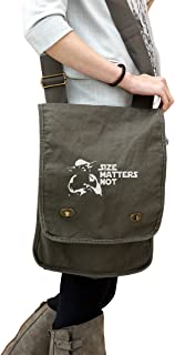 Yoda Size Matters Not Star Wars Inspired 14 oz. Authentic Pigment-Dyed Canvas Field Bag Tote Green