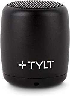 TYLT Mini Boom Bluetooth Speaker (Black) 3W Output on Bluetooth 4.2 & Up to 4 Hours of Playback on One Charge from This Portable Wireless Speaker with Microphone, Includes Micro USB Charging Cord