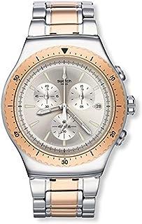 ساعة سواتش للرجال كوارتز رقمية بسوار ستانلس ستيل YOS452G