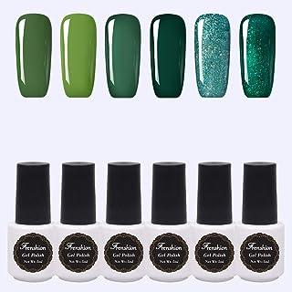 Kit of 6 pcs 5ML/pc Semi-permanent Nail Polish Gel Nail Polish Soak off UV LED Gel Nails Kit Set 02