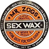 Sex Wax Surfwachs von Mr.Zogs Original 75 Gramm orange für den mittleren Temperaturbereich 13-20° Celcius, Mr. Zogs Wachs orange
