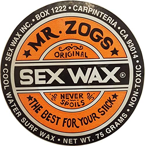 Sex Wax Surfwachs von Mr.Zogs Original 75 Gramm orange für den mittleren Temperaturbereich 13-20° Celcius, Mr. Zogs Wachs orange