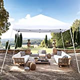 Blissun 10' x 10' Outdoor Pop-Up Slant Leg Canopy, Folding Tent Portable Pergola for Commercial Wedding Party BBQ Event, Sunshade Waterproof Heavy Duty (White)