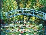 nanxiaotian Diamantmalerei 5D DIY Volldiamant runde Diamantbogenbrücke Lotusblatt 60 × 45CM Strass Kristall Bild Stickerei Kit Kunsthandwerk Kreuzstich