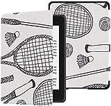 Funda Kindle Paperwhite Funda de Raqueta de bádminton y Raqueta de Tenis Funda Kindle Paperwhite con activación/Reposo automático 10ª Funda Kindle Paperwhite Décima generación 2018