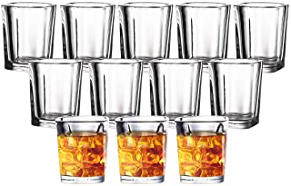 JOLLY CHEF Shot Glass Set with Heavy Base, 2 Ounce Tequila Shot Glasses, Clear Shot Glass for Whiskey and Liqueurs (20 Pac...