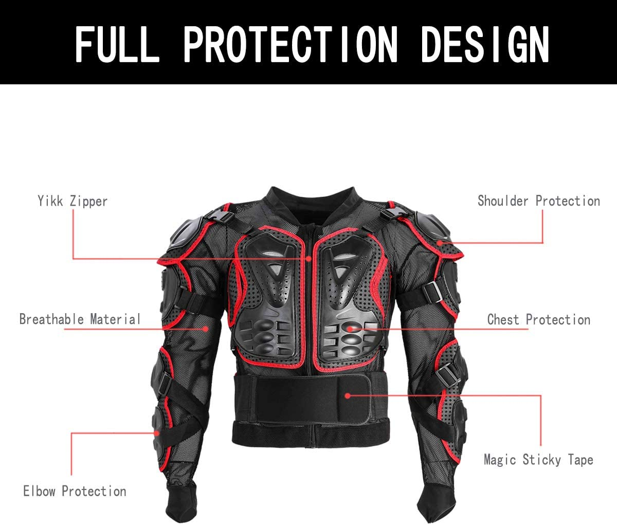 Motorcycle Full Body Riding Armor Dirt Bike Protective Gear Motocross Protector