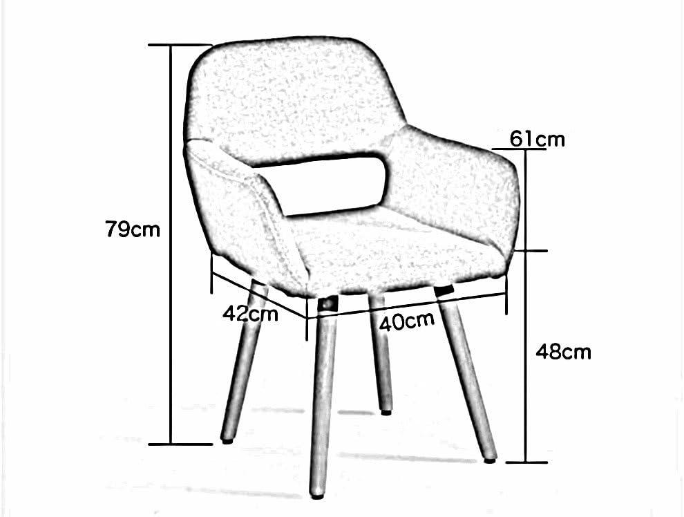 AJZGFChaise de salle à manger, chaise de cuisine Chaise nordique créative de dos, chaise de loisirs chaise d'ordinateur chaise à la maison (Color : 3) 7