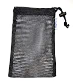 2 - Black Soap Saver Pouches w/String Lock for Sensitive Skin. The Affordable ' Soap on a Rope '