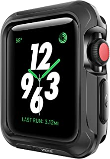 V85 Compatible Apple Watch Case 38mm, Shock-proof and Shatter-resistant Protector Bumper iwatch Case Compatible Apple Watch Series 3, Series 2, Series 1, Nike+,Sport, Edition Black