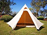 Dream House Waterproof Canvas Camping Indian Teepee Tent for 2 Person