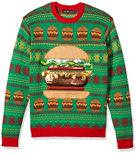 Blizzard Bay Men's Ugly Christmas Sweater Food, Red, Medium