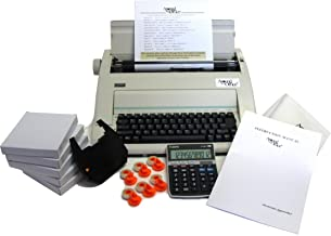 Typewriter & Calculator Small Office Package with Large Dark Printing, Dust Cover, 6..