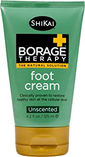 Shikai Borage Dry Skin Therapy Foot Cream, 4.2-Ounce Tubes (Pack of 3)